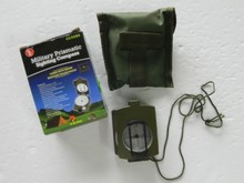 Military Prismatic Sighting Compass w/Pouch